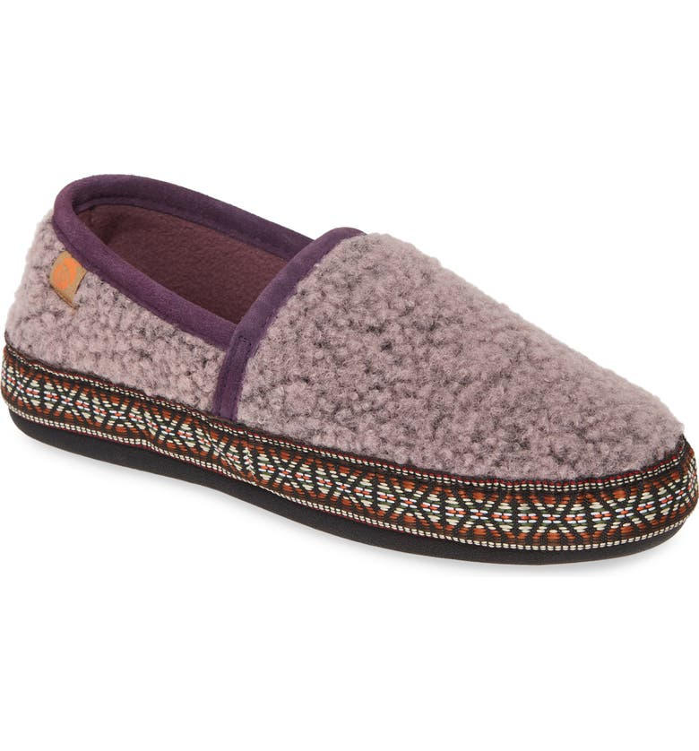 ACORN Woven Trim Moc Slipper, Main, color, IRIS