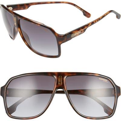Carrera Eyewear 62mm Oversize Polarized Flat Top Aviator Sunglasses - Dark Havana