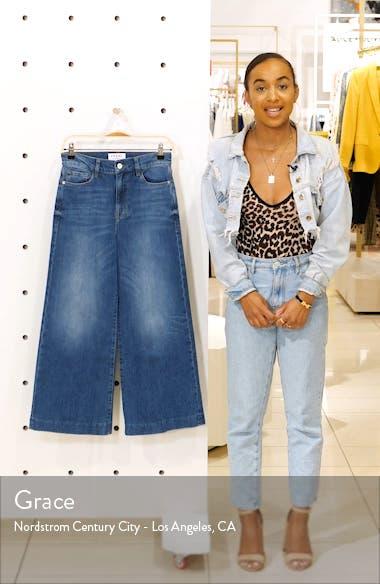 Le Vintage High Waist Crop Blind Stitch Jeans, sales video thumbnail