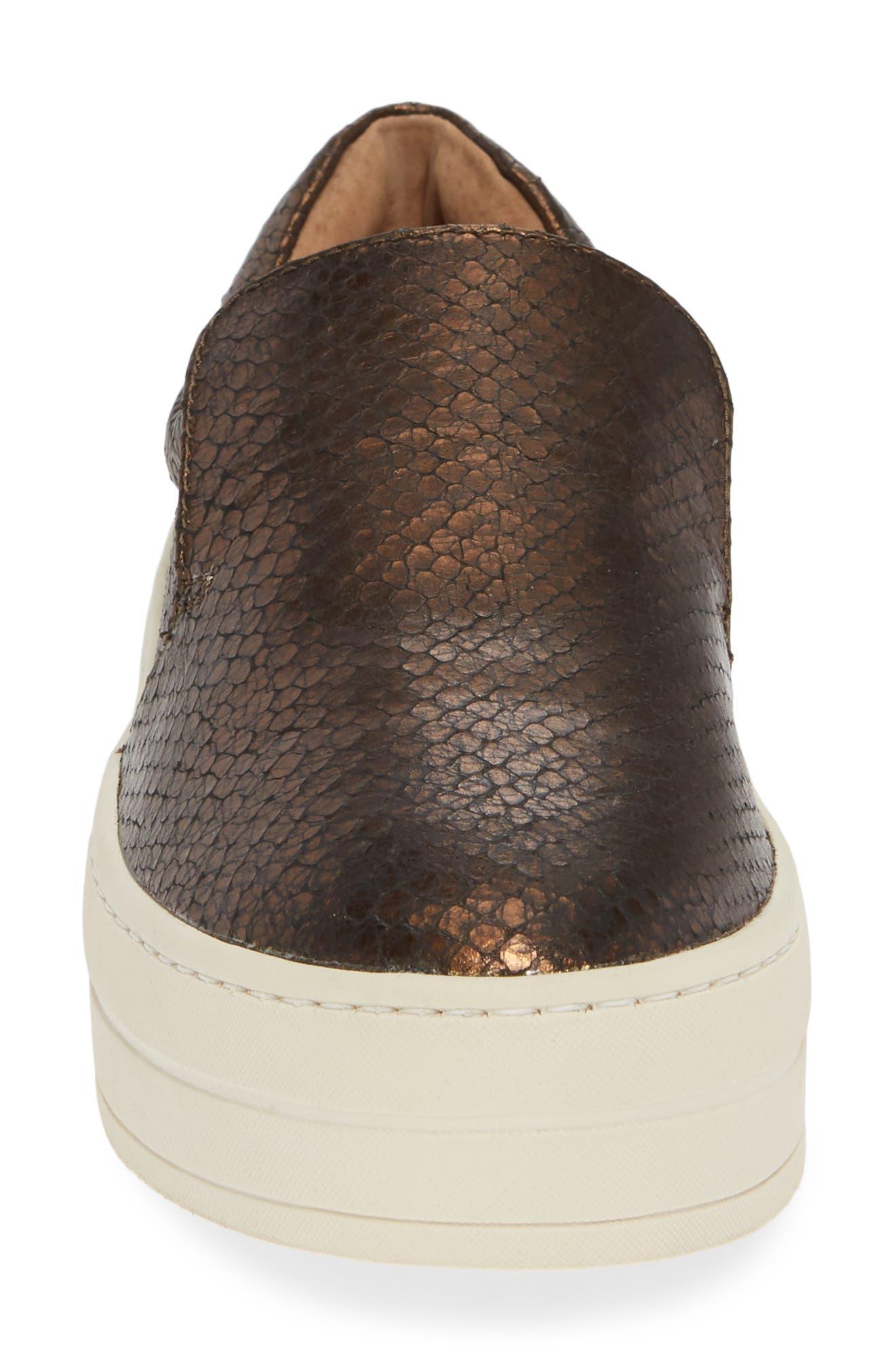 ,                             Harry Slip-On Sneaker,                             Alternate thumbnail 4, color,                             BRONZE EMBOSSED LEATHER