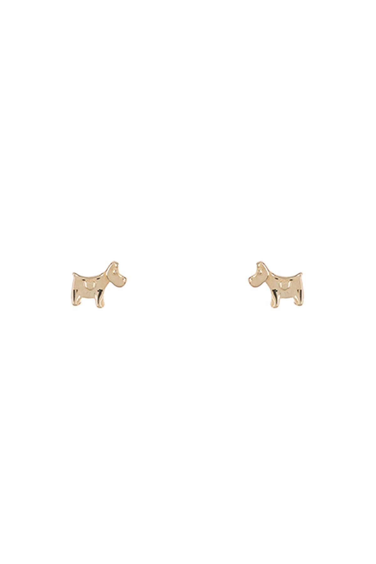 Image of KARAT RUSH 14K Yellow Gold Mini Dog Stud Earrings