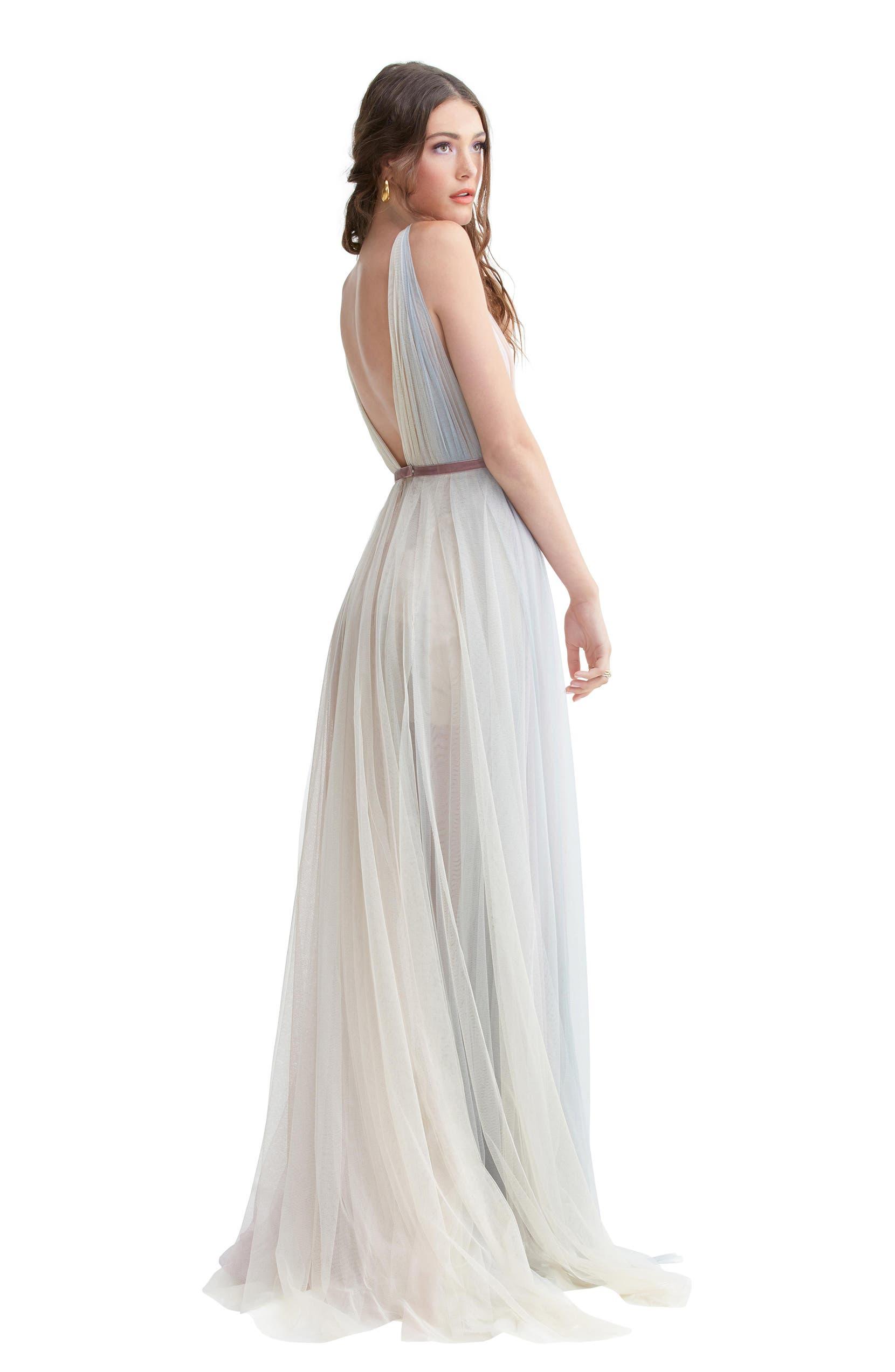 ef64b5cbb9b Willowby Hutton Rainbow Tulle A-Line Wedding Dress