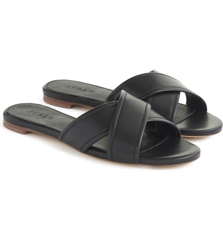 J.CREW Cora Slide Sandal, Main, color, 001