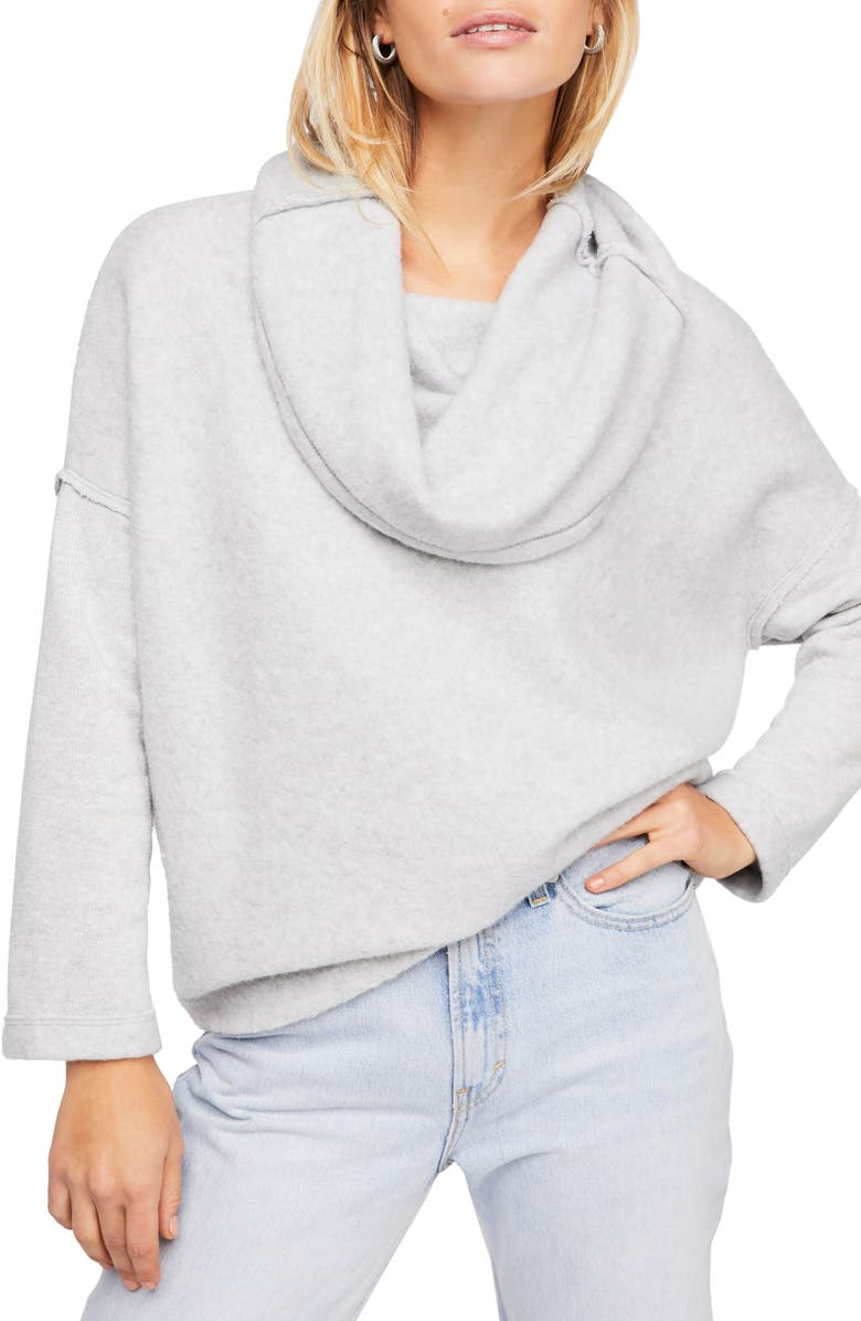 FREE PEOPLE Huntington Pullover, Main, color, GREY