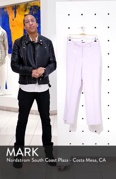 Crepe Kick Flare Ankle Pants, sales video thumbnail