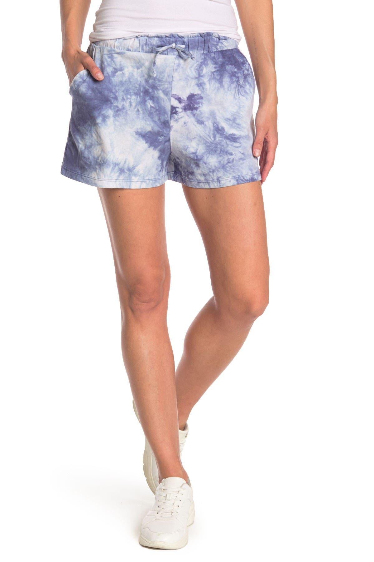 Image of Socialite Tie Dye Print Shorts