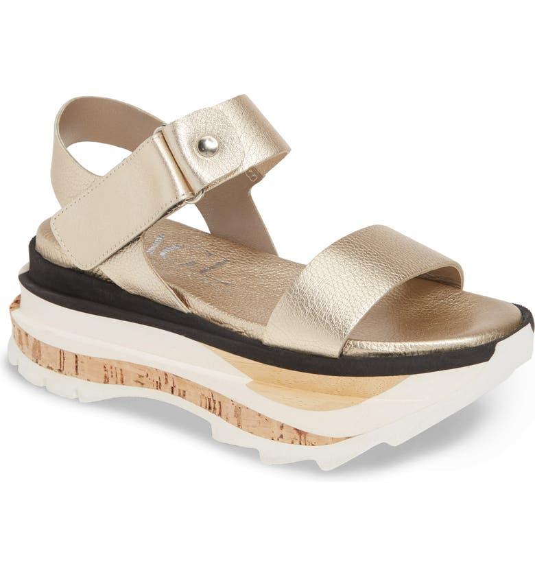 AGL Wedge Sport Platform Sandal, Main, color, PLATINUM
