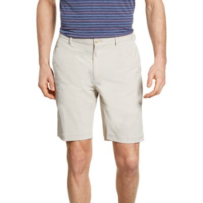 Peter Millar Stealth Stretch Twill Performance Shorts, Beige