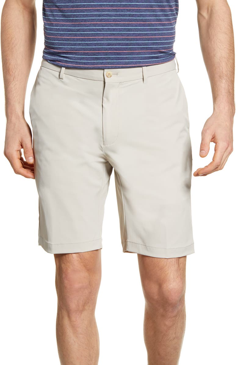 PETER MILLAR Stealth Stretch Twill Performance Shorts, Main, color, OATMEAL