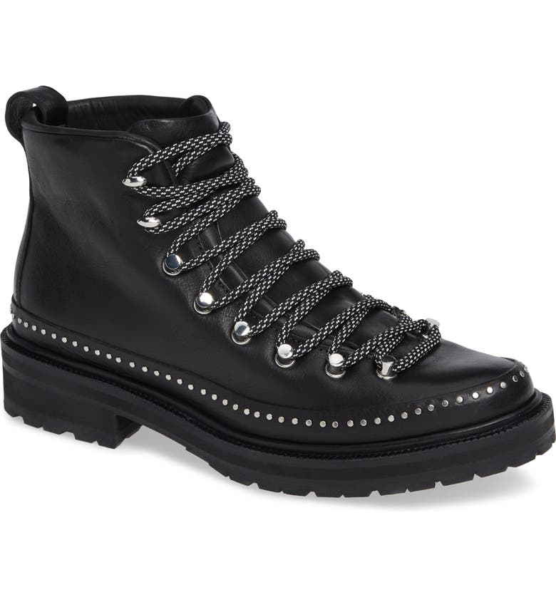 RAG & BONE Compass Combat Boot, Main, color, BLACK LEATHER