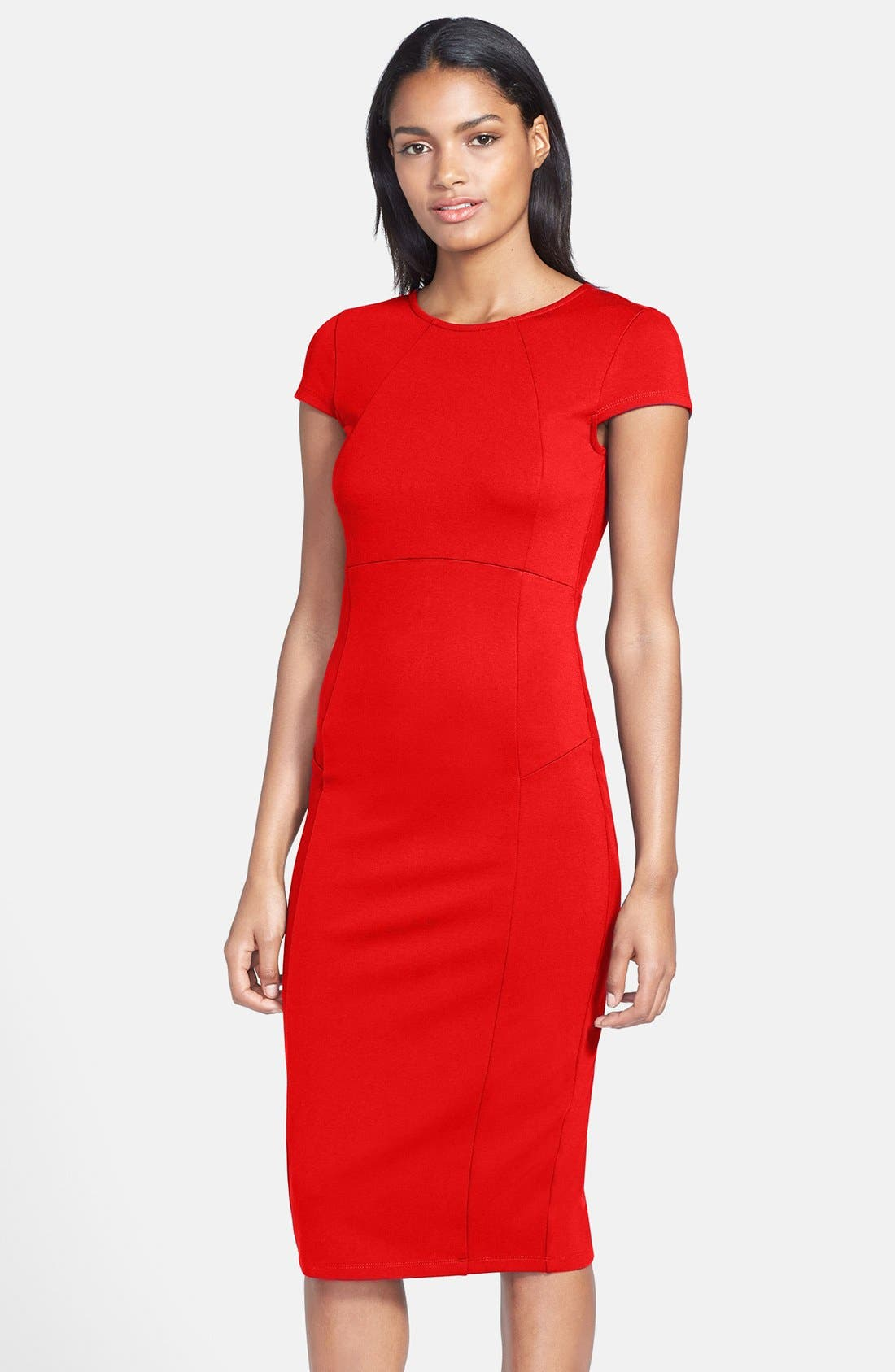 ,                             Ward Seamed Pencil Dress,                             Main thumbnail 29, color,                             600