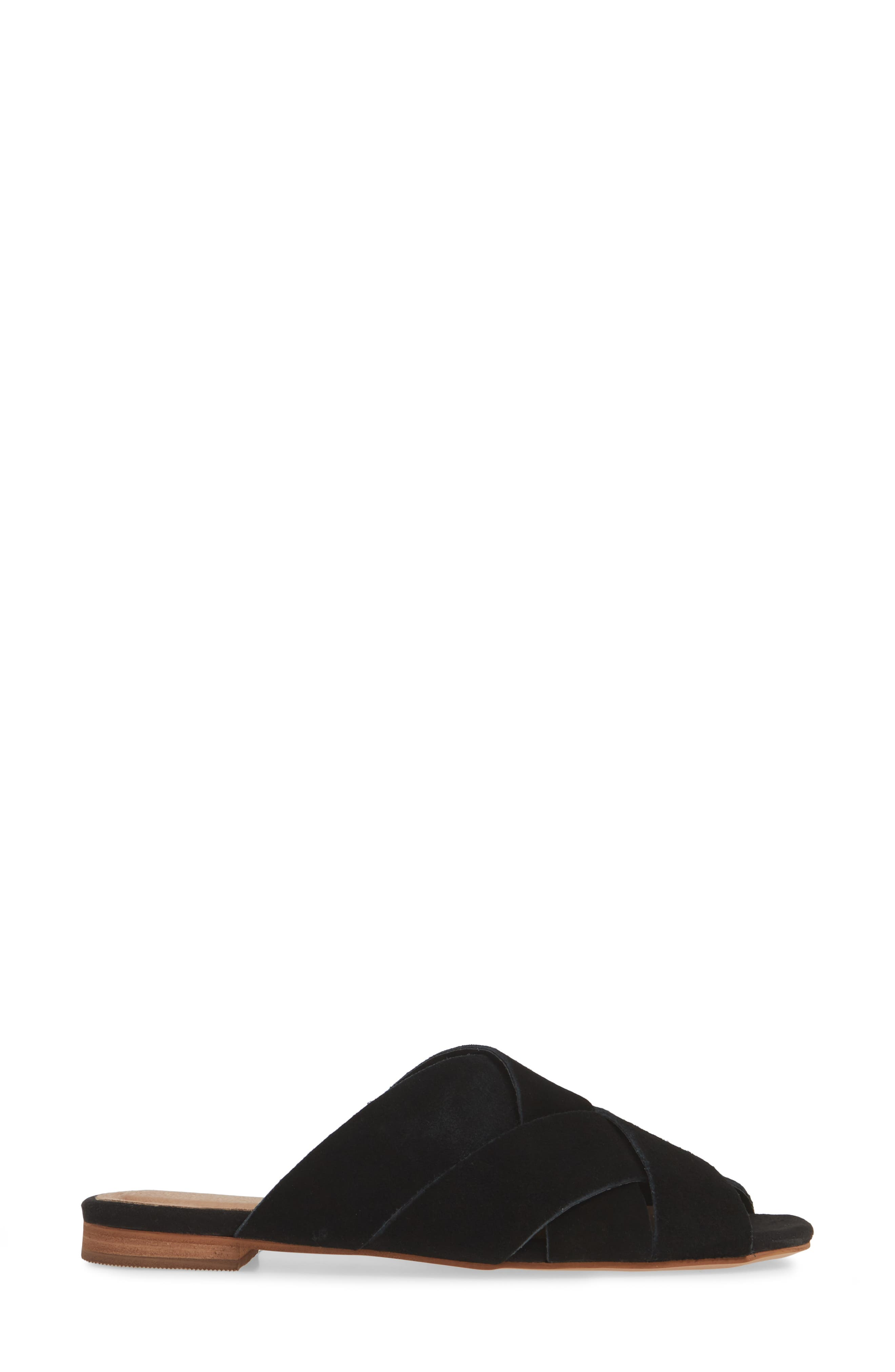 ,                             Hop Cross Slide Sandals,                             Alternate thumbnail 4, color,                             BLACK