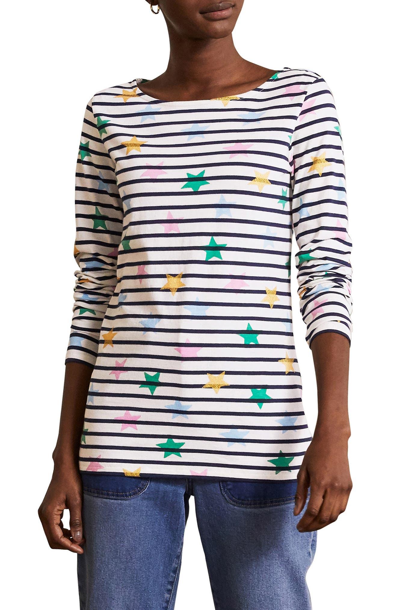Breton Long Sleeve Cotton T-Shirt