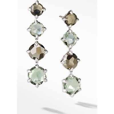 David Yurman Chatelaine Drop Earrings With Blue Topaz