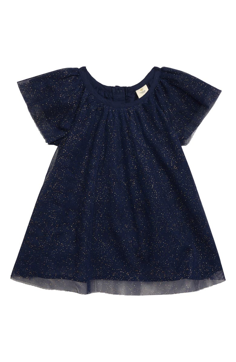 TUCKER + TATE Sparkle Tulle Dress, Main, color, NAVY PEACOAT SPARKLE