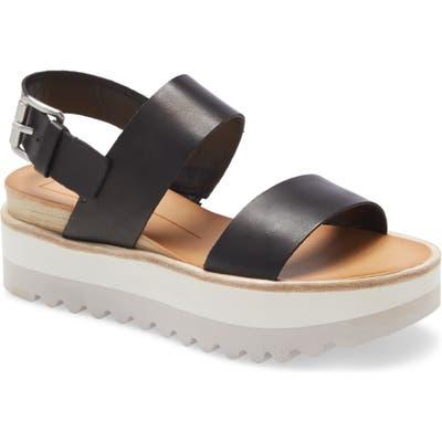 Dolce Vita Moxie Platform Wedge Sandal, Black