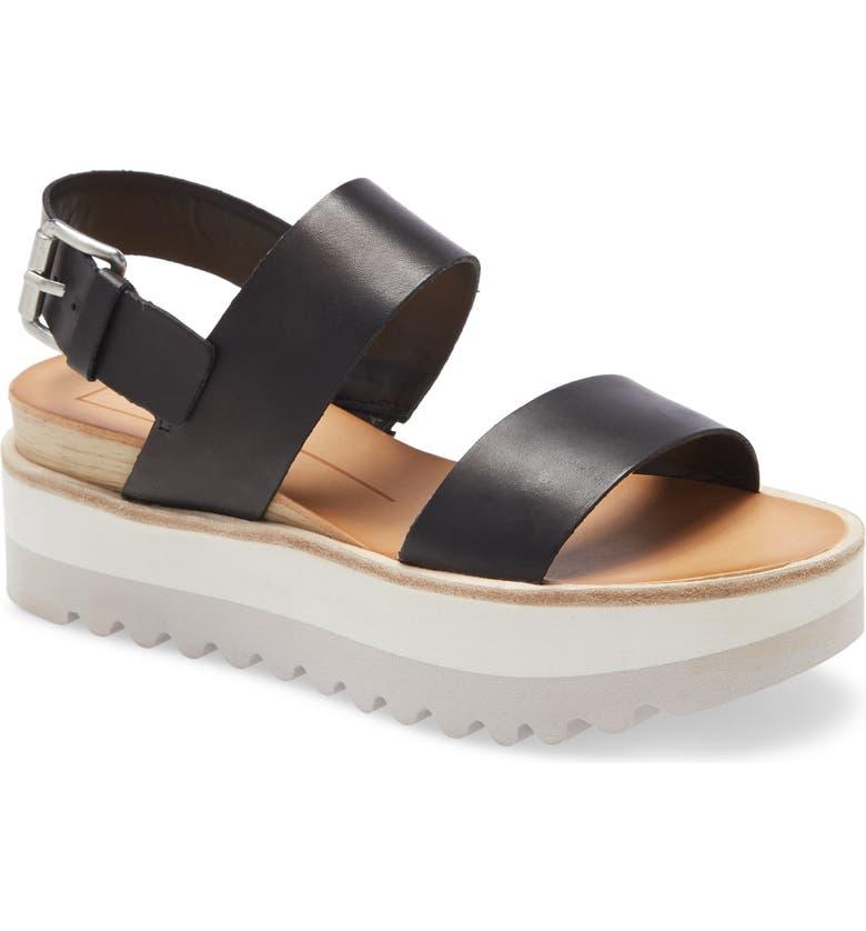 DOLCE VITA Moxie Platform Wedge Sandal, Main, color, BLACK