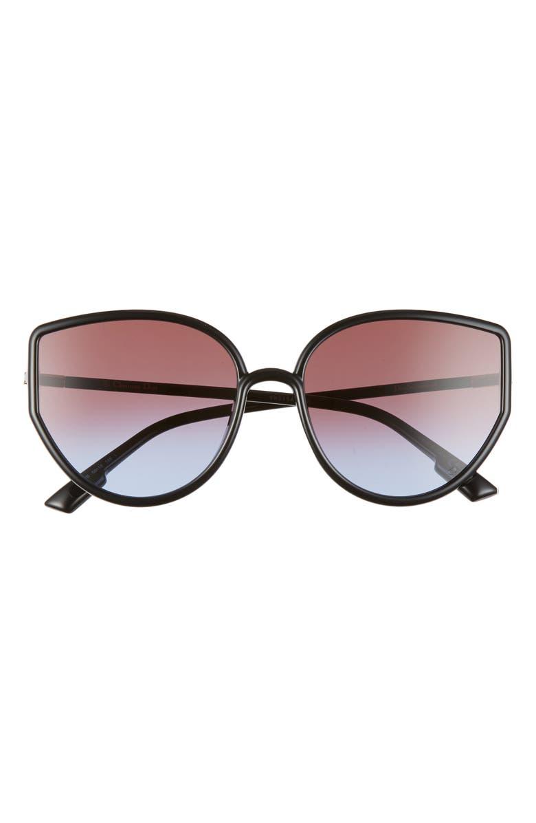 DIOR Sostellaire 58mm Cat Eye Sunglasses, Main, color, BLACK/ MULTI