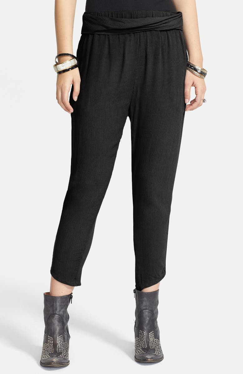 FREE PEOPLE Twist Front Textured Pants, Main, color, 001