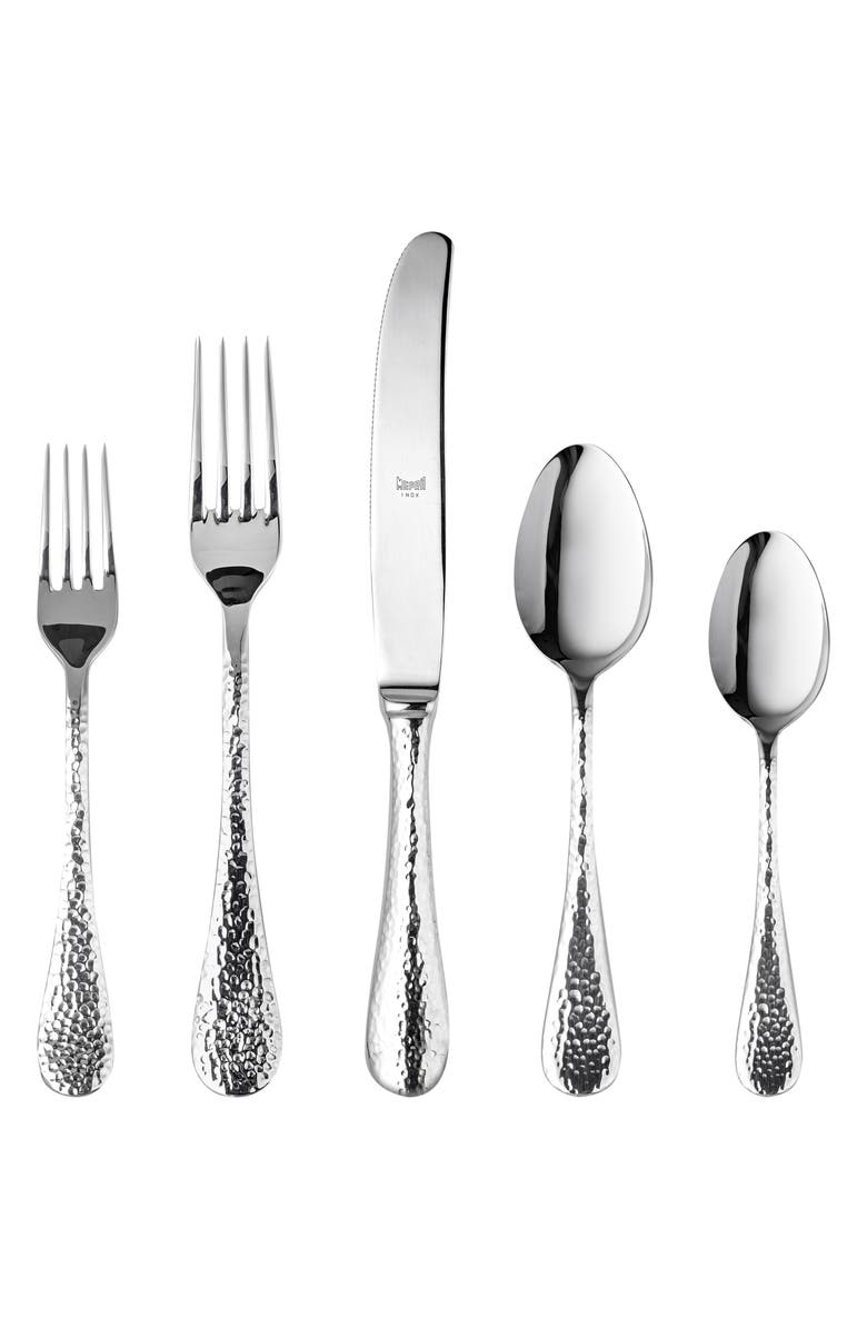 MEPRA Epoque 5-Piece Place Setting, Main, color, STAINLESS SHINY