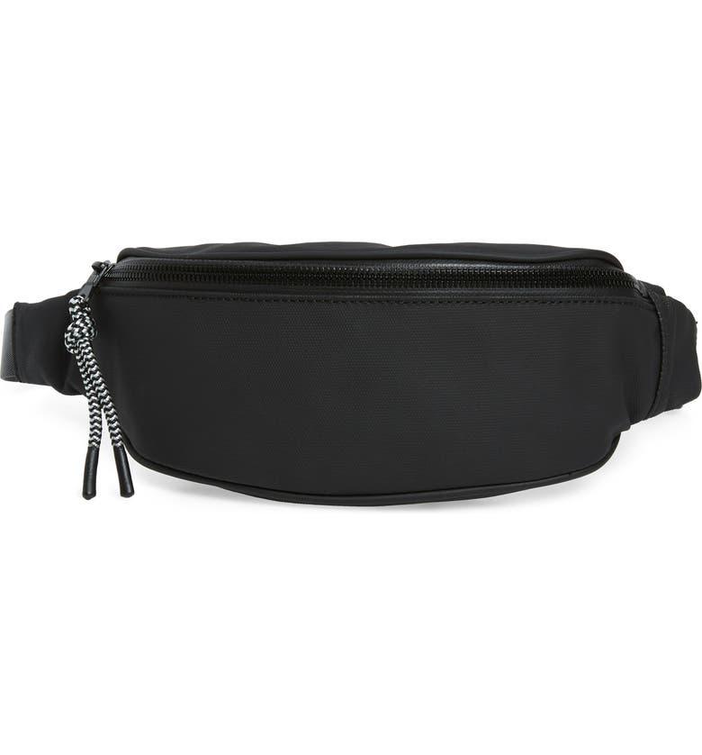 TREASURE & BOND Mason Water Resistant Belt Bag, Main, color, 001