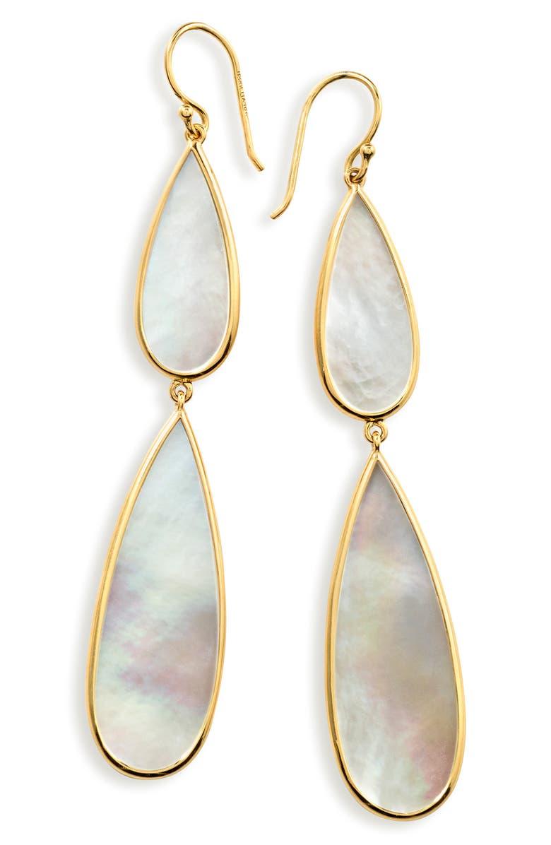 IPPOLITA Rock Candy Drop Earrings, Main, color, GOLD/ PEARL