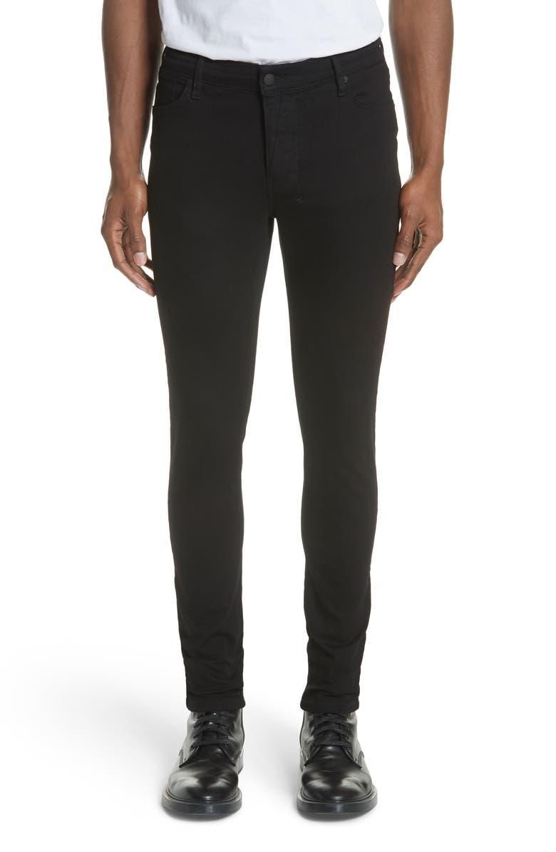 KSUBI Van Winkle Black Rebel Skinny Fit Jeans, Main, color, BLACK