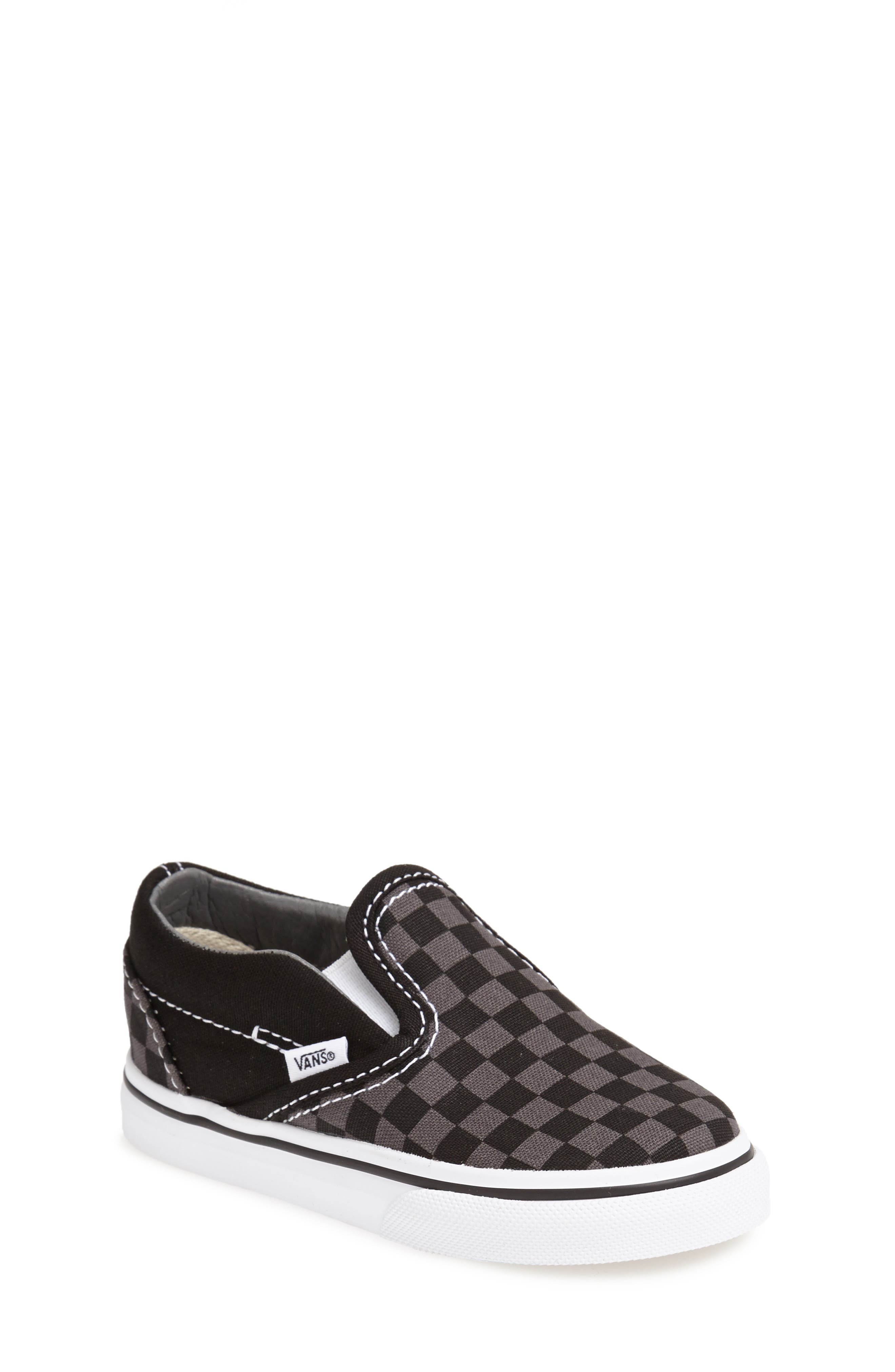 ,                             Classic Checker Slip-On,                             Main thumbnail 1, color,                             CHECKERBOARD/ WHITE/ BLACK