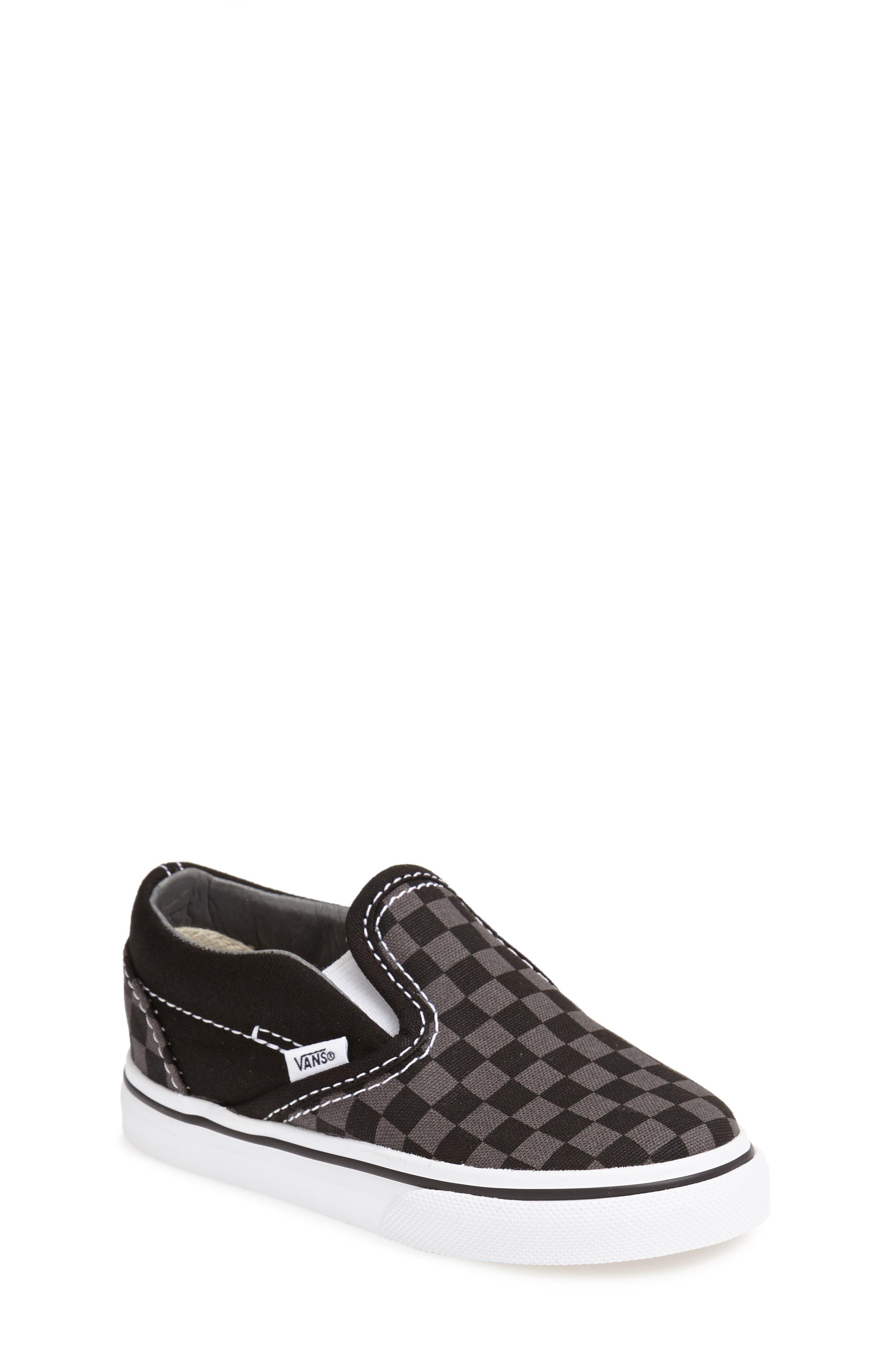 Classic Checker Slip-On, Main, color, CHECKERBOARD/ WHITE/ BLACK