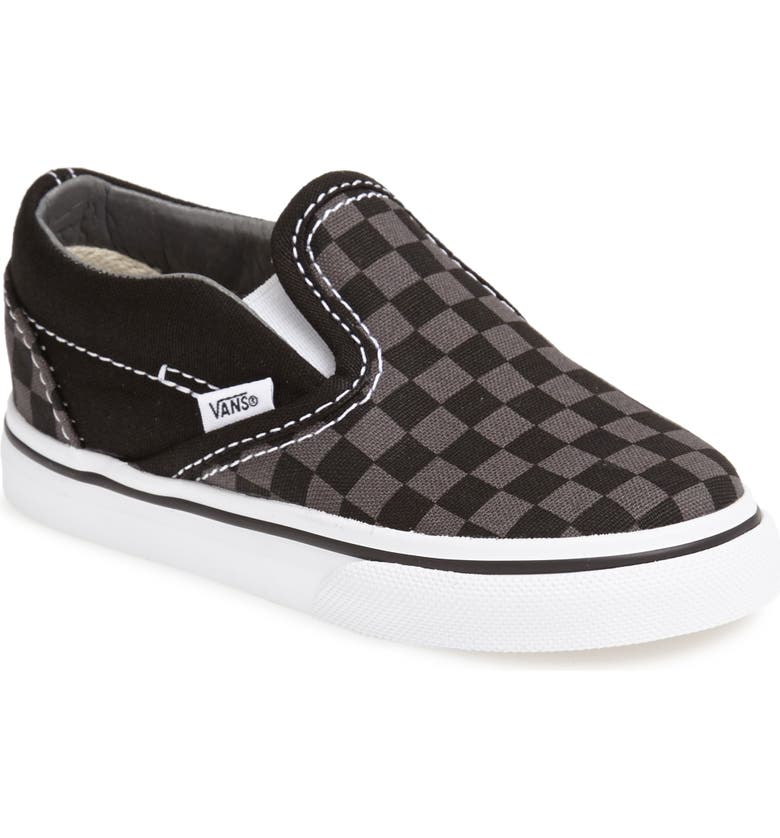 VANS Classic Checker Slip-On, Main, color, CHECKERBOARD/ WHITE/ BLACK