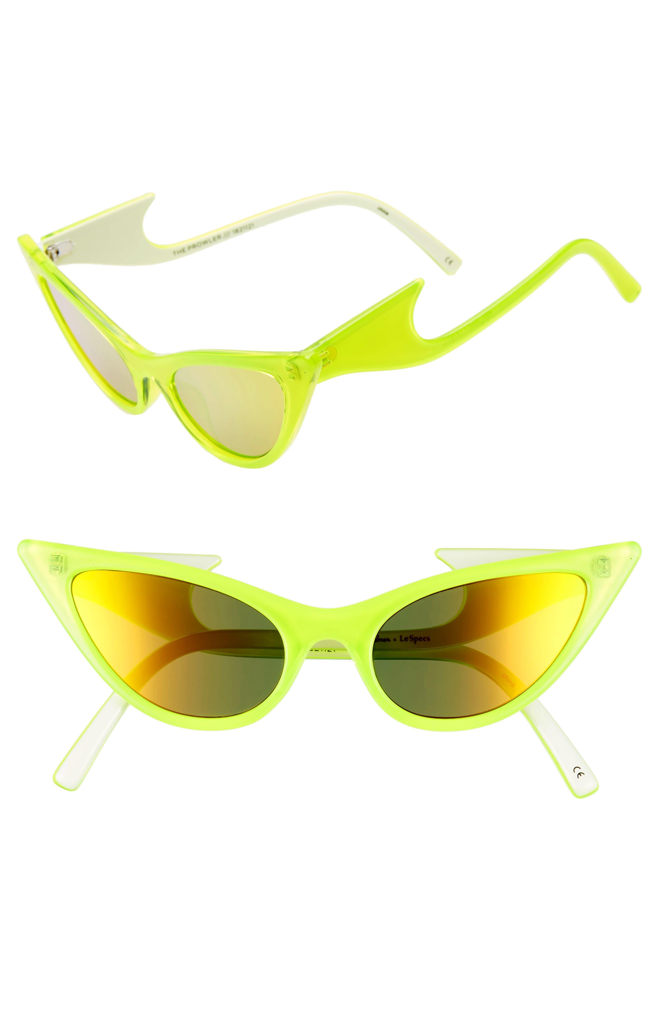 Adam Selman X Le Specs Luxe The Prowler 55Mm Sunglasses - Neon Yellow