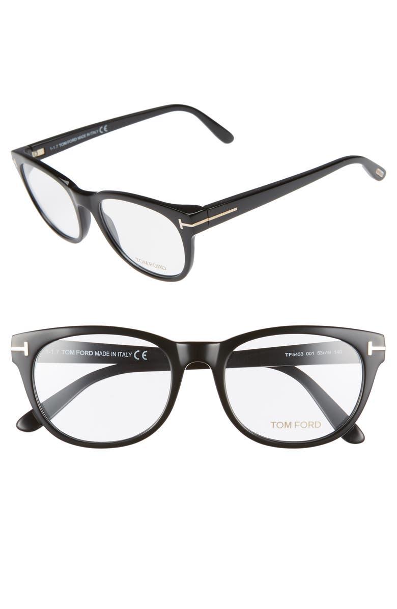 TOM FORD 53mm Optical Glasses, Main, color, 001