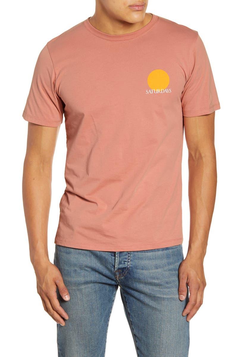 SATURDAYS NYC Sun Graphic T-Shirt, Main, color, SALMON