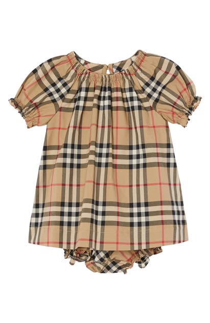 Burberry Cottons VINTAGE CHECK RUCHED COTTON DRESS