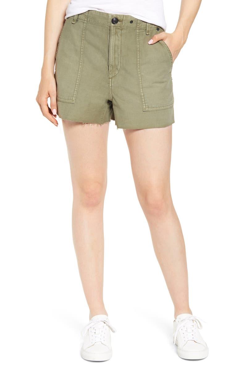 716ac94c789 rag & bone Super High Waist Cotton Army Shorts | Nordstrom