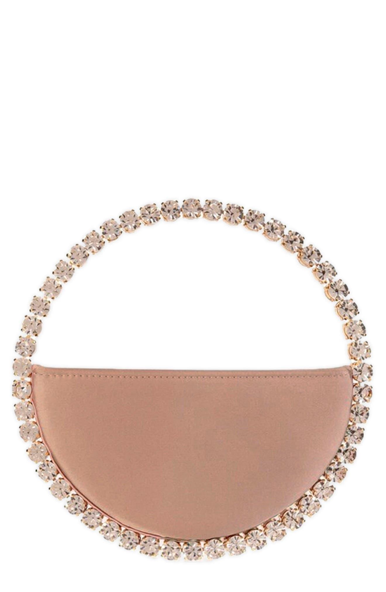 Eternity Rainbow Crystal Top Handle Bag