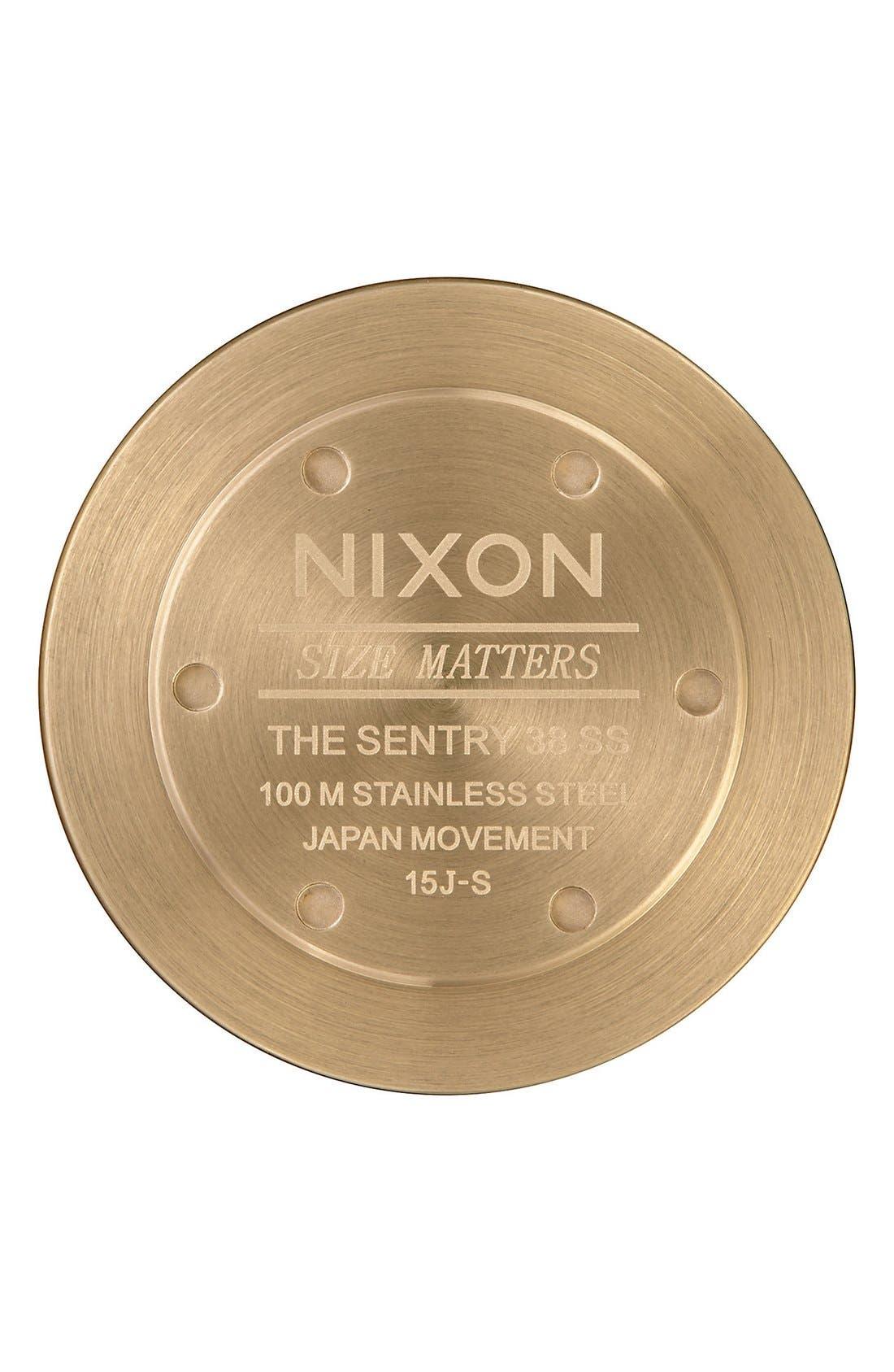 Nixon Men's Sentry Leather Strap Watch, 38mm