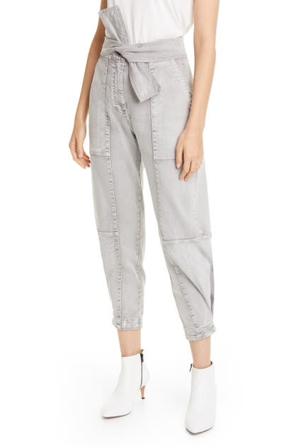 Ulla Johnson Jeans WADE TIE WAIST TAPERED JEANS