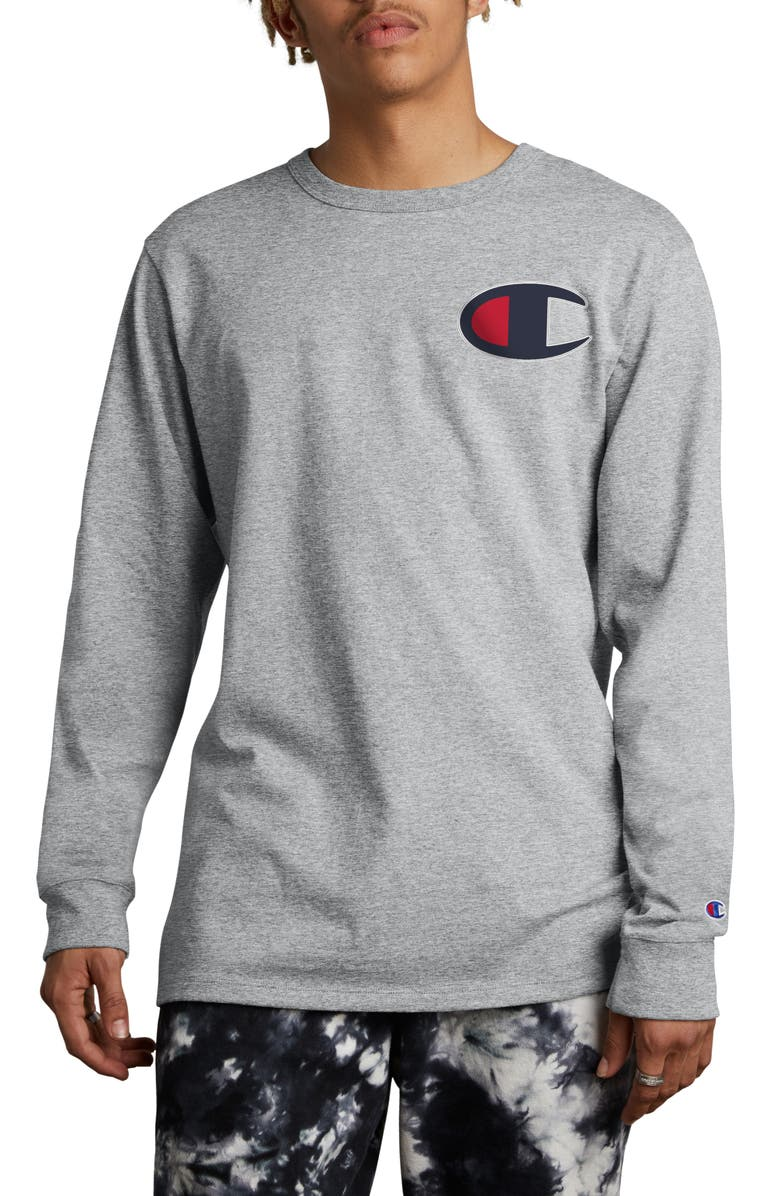 617678a8fccf Heritage Patch T-Shirt, Main, color, OXFORD GRAY