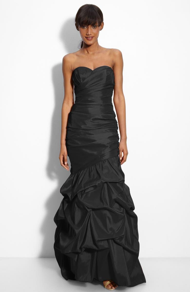 DALIA MACPHEE Strapless Taffeta Mermaid Gown, Main, color, 001