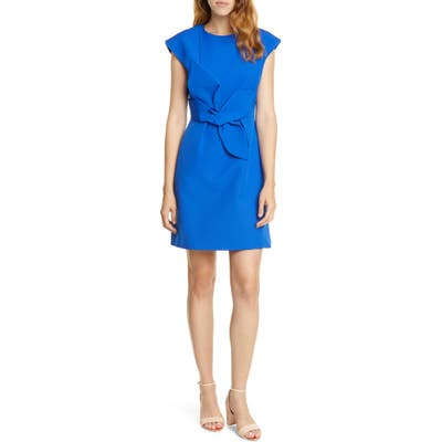 Ted Baker London Polly Structured Bow Minidress, Blue