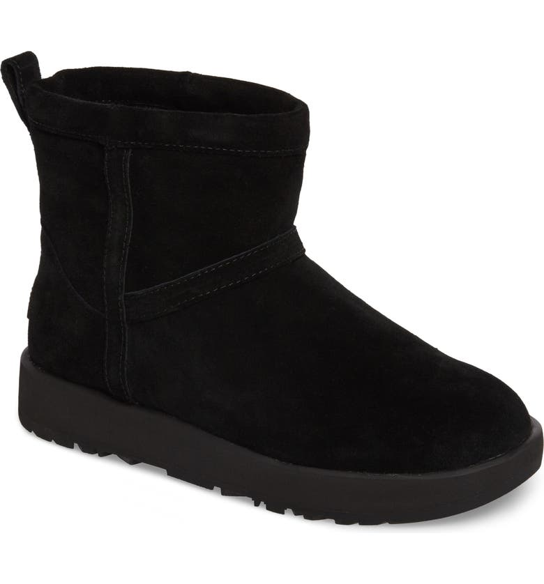 UGG<SUP>®</SUP> Classic Mini Waterproof Boot, Main, color, BLACK SUEDE