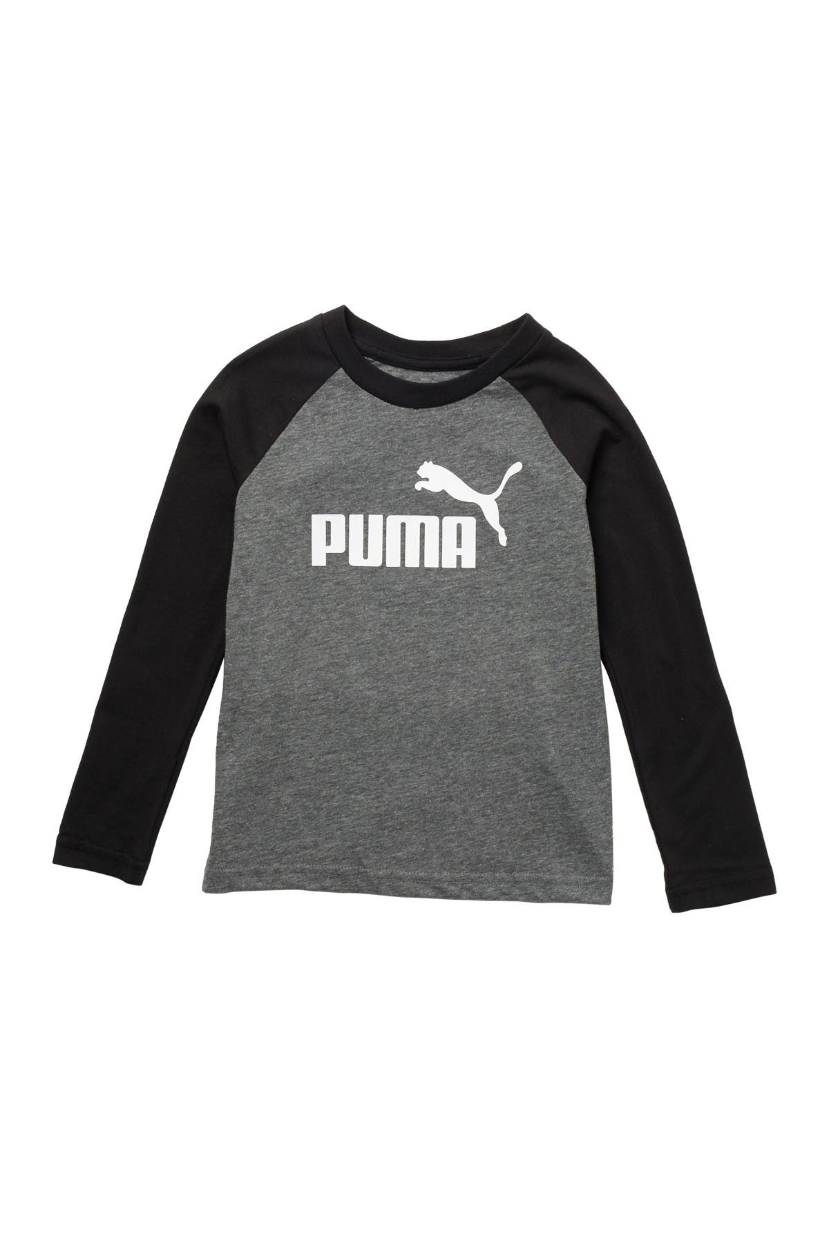Image of PUMA No. 1 Logo Graphic Long Sleeve T-Shirt