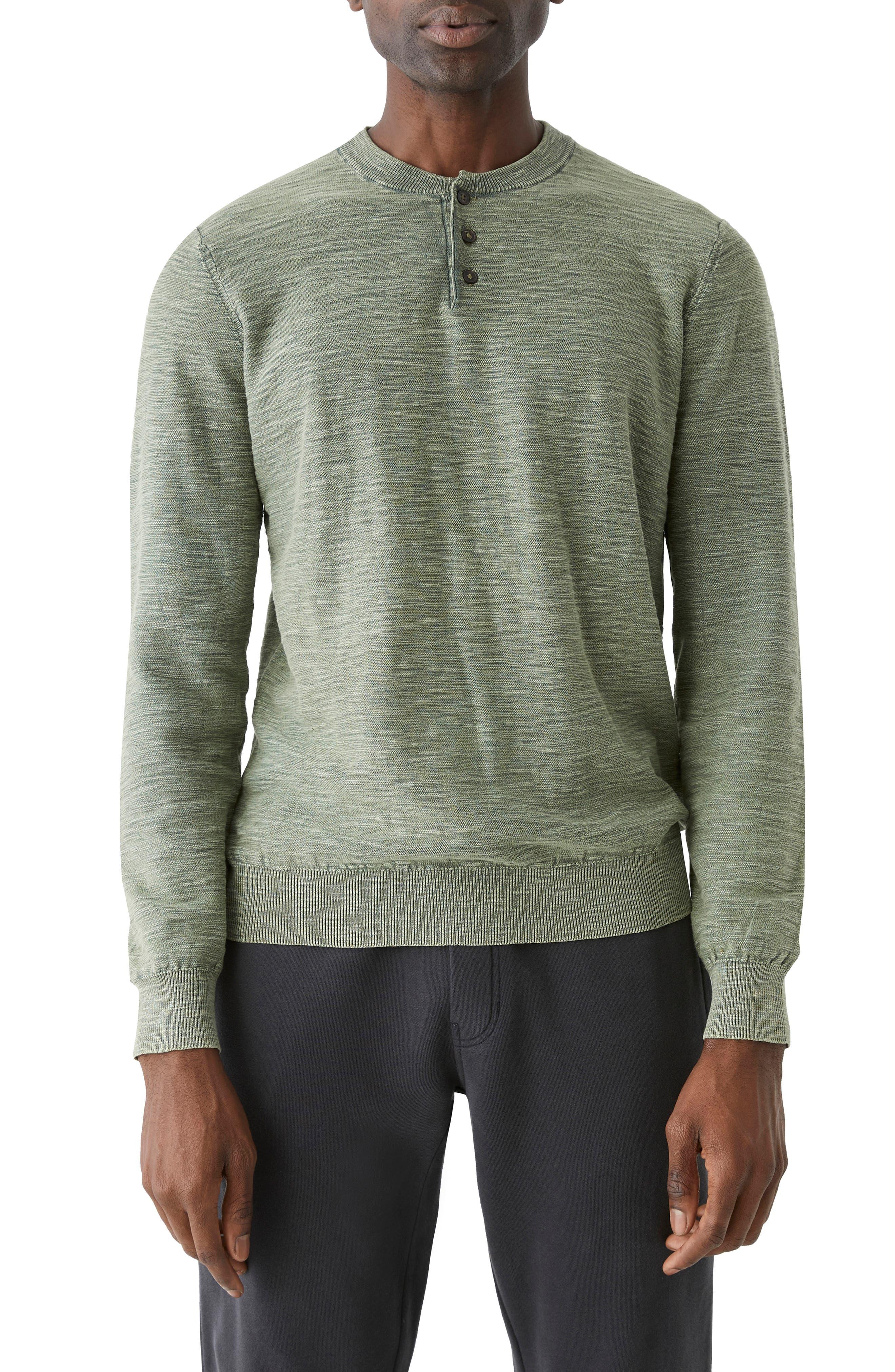 Slub Cotton Henley Sweater