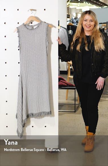 Herringbone Knit Asymmetrical Dress, sales video thumbnail