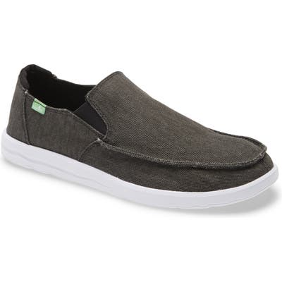 Sanuk Hi Five Slip-On Sneaker, Black