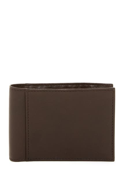 Image of BOSCA Small ID Bifold Leather Wallet