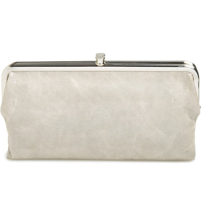HOBO 'Lauren' Leather Double Frame Clutch, Main, color, 021