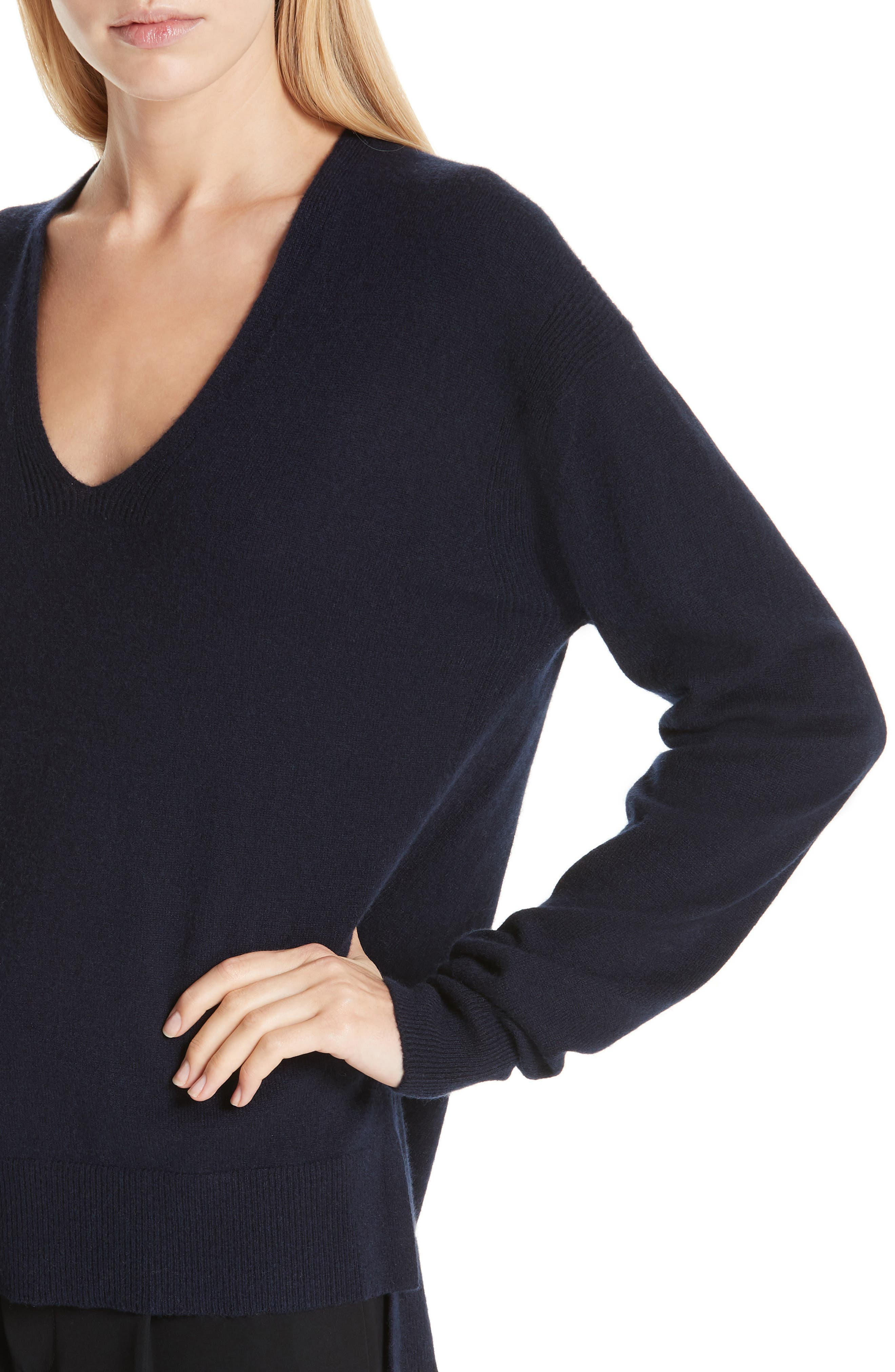,                             Wool & Cashmere V-Neck Sweater,                             Alternate thumbnail 10, color,                             403
