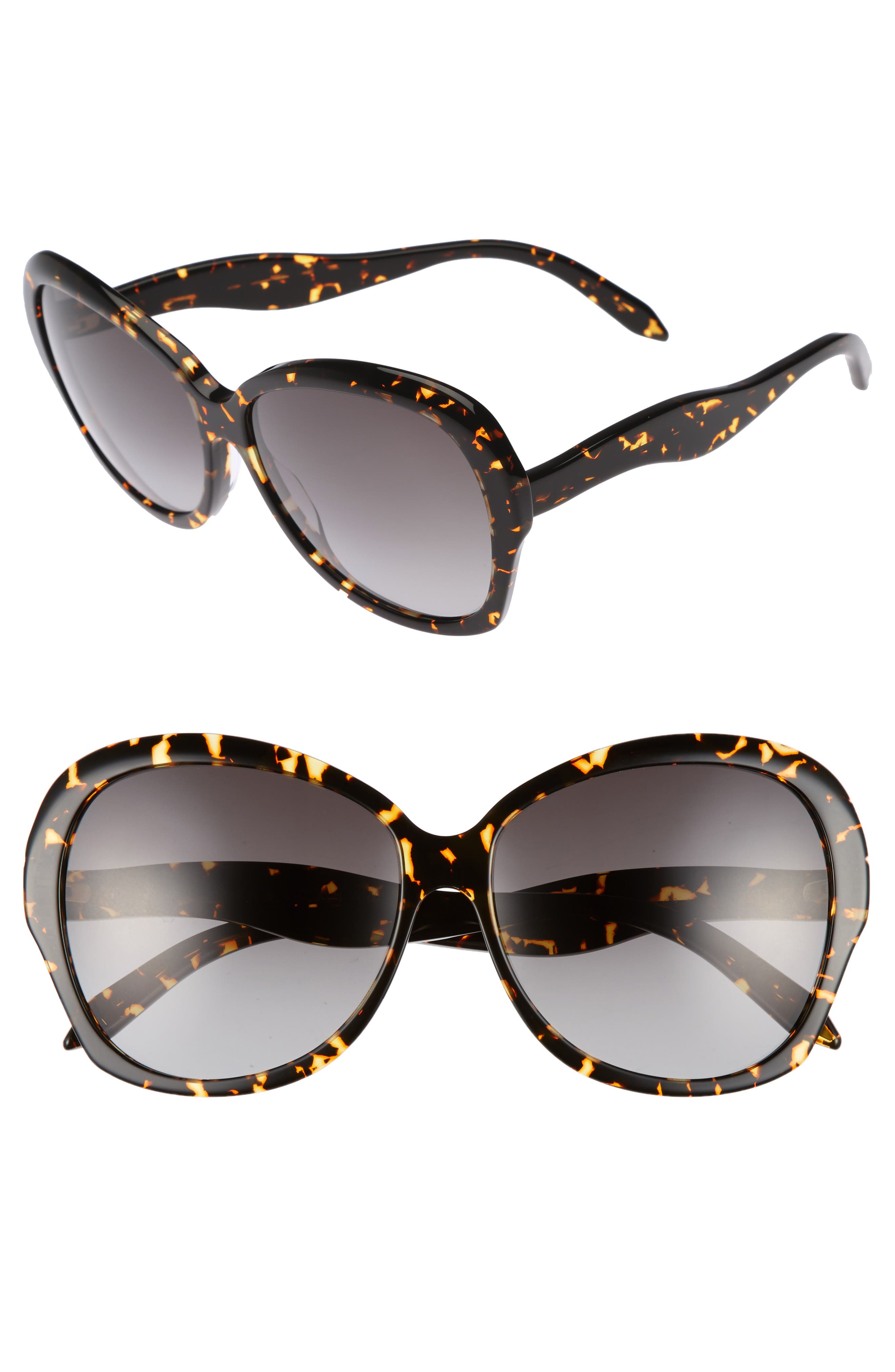 Image of Victoria Beckham 60mm Happy Butterfly Oversize Sunglasses